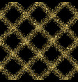 luxury golden glitter diagonal check seamless vector image vector image