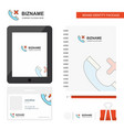 medical call business logo tab app diary pvc vector image vector image