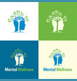 mental wellness logo and icon vector image