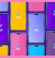 mobile phones mockups seamless pattern background vector image vector image
