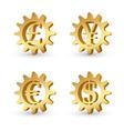 money gears 3 vector image vector image