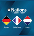 nations soccer team template design vector image