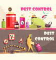 pest control horizontal banners vector image vector image