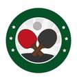 ping pong sport emblem vector image