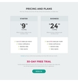 Pricing table price page vector image