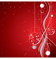 red sparkling background vector image vector image