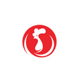rooster logo template icon vector image