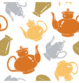 seamless pattern with kettles vector image