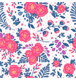 seamless roses pattern in vector image vector image