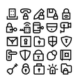 Security Icons 4 vector image vector image