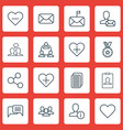set of 16 social network icons includes identity vector image vector image