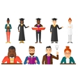 set of graduate student characters vector image