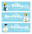 set of of architects at work vector image vector image