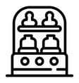 sterilizing bottle machine icon outline style
