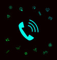 telephone handset telephone receiver icon vector image vector image