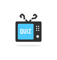 tv quiz button with shadow vector image vector image