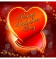 Valentines Day sticker vector image vector image