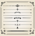 vintage set of horizontal elements vector image