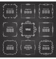 Vintage square frames set on chalkboard vector image vector image