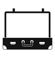 vintage suitcase icon simple style vector image