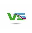 VS logo vector image vector image
