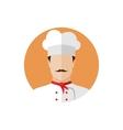 Professional chef icon vector image