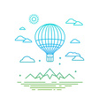 travel concept in linear style vector image