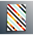 abstract geometric typography with gradient vector image vector image