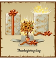 Autumn bonsai from sunflowers and gift box vector image vector image