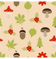 Autumn forest pattern vector image vector image