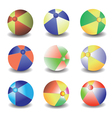 beach balls vector image