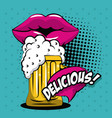 beer pop art vector image