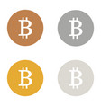 bitcoin icons logo bronze gold silver platinum set vector image