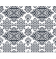 black and white ethnic seamless pattern with hand vector image vector image