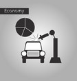 black and white style icon automotive industry vector image vector image