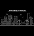 boston silhouette skyline usa - boston vector image