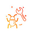 bugs icon design vector image