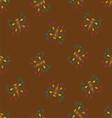 Butterflies on brown vector image vector image
