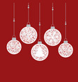 christmas balls decoration vector image