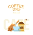 Coffee cup and mill vector image vector image