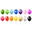 colorful balloons collection isolated white vector image vector image