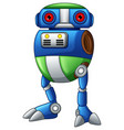 colorful robot cartoon isolated on white backgroun vector image vector image