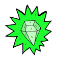 comic cartoon huge emerald vector image