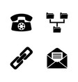 communicate simple related icons vector image