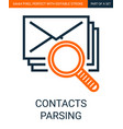 contacts parsing or searching simple outline vector image