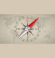 creative of wind rose magnetic vector image