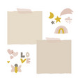 cute nursery clip art and stickers for kids design vector image
