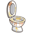 dirty toilet bowl vector image vector image