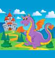 dragon theme image 2 vector image vector image