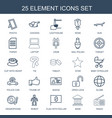 element icons vector image vector image